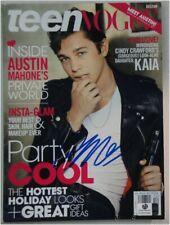Austin Mahone Hand Signed Autographed Teen Vogue Magazine GV 857058