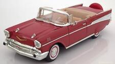 1:18 Lucky QUALITE CHEVROLET BEL AIR CONVERTIBLE 1957 Red