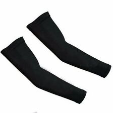 Unisex UV Protection Arm Cooling Sleeve for Outdoor Sports-One Pair-Black