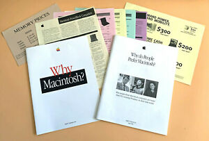 Vintage Apple Brochures and Pricing Sheets 1996 'Why do People Prefer Macintosh'