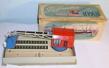 60's Russian tin-plate Wind-up Dock-yard Crane toy  boxed Biller copy USSR CCCP