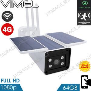 4G Solar Security Camera 24/7 Real Live View SIM Card Wireless PIR Radar 3G
