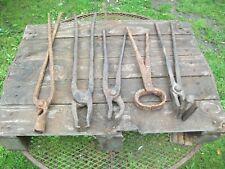 Blacksmith tongs x5 forge hammer anvil use