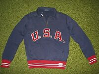 Men's $145. (S) POLO-RALPH LAUREN Fleece USA Half Zip Sweatshirt