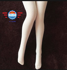 """1/6 SCALE Sexy Fishnet WHITE  Stockings for 12"""" Phicen Female Figure"""
