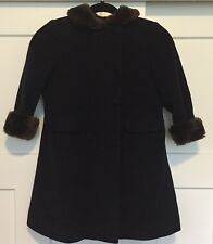Saks Fifth Avenue Girls Wool Cashmere Coat Size 6 Children's SHIPS FREE