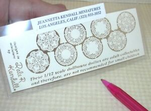 "Kendall Laser-Cut Paper Doilies, 4 Pairs - 3/4"" Diameter: DOLLHOUSE 1:12"