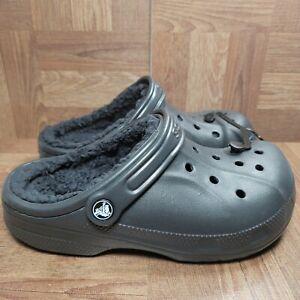 NEW Crocs Comfort Fleece Lined Winter Clog Men's Size 5 Women's Size 7 Black