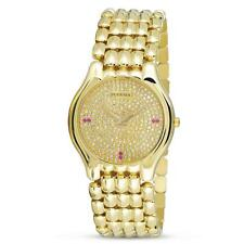 NOS 18k Gold JUVENIA BIARRITZ Unisex watch Ref 11346 with Diamond Dial & Rubies