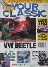 Your Classic magazine 09/1993 featuring Triumph TR4, Hillman, Honda, Volvo