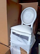 *PAIR* White Dining Wedding Chair with wipe clean Faux Leather (includes VAT)
