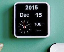 Karlsson Mini Flip Wall Clock - Brushed Silver