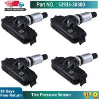 4X 52933-3X300 Tire Pressure Sensor TPMS For Hyundai Elantra KIA RIO 2012-14