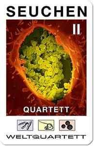SEUCHEN 2  QUARTETT weltquartett MUMPS Borreliose Influenza Hepatitis
