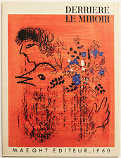 Marc Chagall Derriere Le Mirroir 121-122 Original Lithograph 1960
