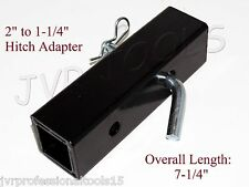 """New 2"""" to 1-1/4"""" Hitch Receiver Adapter Converter Reducer Trucks RV Trailers"""