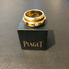 9302 Piaget 18ct Yellow Gold Possession Ring with Diamond & Ruby