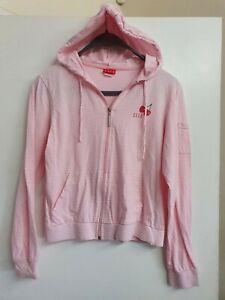 Elle Y2k Striped Cherry Hoodie Full Zip Size 12