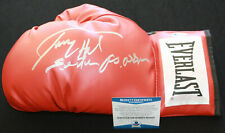 Larry Holmes signed & inscribed laced boxing glove, IBF, WBC, Beckett BAS N25652