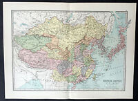 1870 Philip Large Antique Map of China & Japan - West to Tibet
