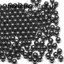 Renaissance-Perlen, 60 Stück, 8 mm, silber,  Preciosa Glaswachsperlen (AZ1074)