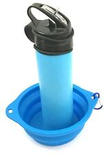 🇬🇧 Dog Walkers Collapsible Silicone Folding 600ml Water Bottle & Bowl Travel