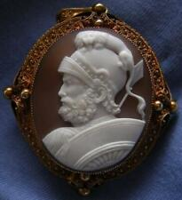 RAREST MUSEUM QUALITY SHELL CAMEO BROOCH OF THE GOD MARS (ARES) LAYAWAY WELCOME!