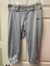 Nike Womens Softball Pants Dri Fit Gray M Medium