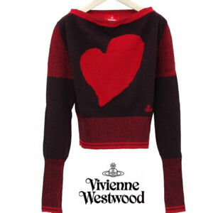Vivienne Westwood RED LABEL Mattis Heart Oversized Jacquard Knit from Japan F/S