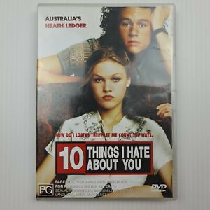10 Things I Hate About You DVD - Heath Ledger -Region 4 PAL-FREE TRACKED POSTAGE