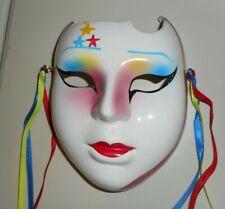 "Vintage Ceramic Face Mask Wall Decor Taiwan 7"" handpainted"