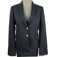 J Crew Womens Blazer Schoolboy Single Breasted Lined Style 28233 Navy Size 6