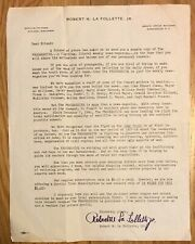 Vintage THE PROGRESSIVE liberal weekly news-magazine letter of solicitation