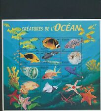 XC95025 Djibouti fish shell coral sealife XXL sheet MNH