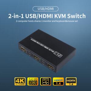 AIMOS AM HDMI USB KVM Switch HD 2K*4K Sharing Monitor Splitter für Tastatur K8N6
