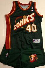 JERSEY MAILLOT + SHORT NBA CHAMPION SEATTLE SUPER SONICS SHAWN KEMP