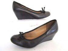 No Pattern Business Wedge Standard (D) Heels for Women