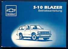 Owner's manual * MANUEL 1993 CHEVROLET s-10 Blazer (D)