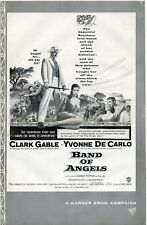 CLARK GABLE, YVONNE De CARLO • Band Of Angels (1957) • Uncut with ad slick