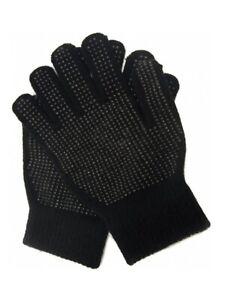 Mens Magic Stretch Gripper Palm Gloves / One Size