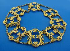 Victorian c.1900s DIAMOND RUBY SAPPHIRE & YELLOW GOLD CHOKER NECKLACE Unusual