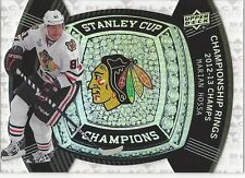 Marian Hossa 2013-14 UD Black Diamond Stanley Cup Champs Championship Rings BD