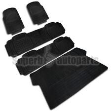 5PC Front+Rear+Cargo Liner Semi Custom Heavy Duty Rubber Floor Mats Carpet Black