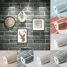 10M Vintage Natural Realistic Bricks Stone Textured Non-woven Wallpaper Roll