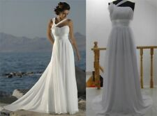 White Ivory Beach Boho Cheap Wedding Dress under $50 Bridal Gown Real Image
