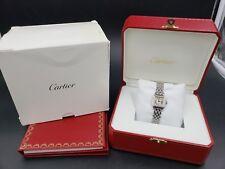 Cartier Ladies PANTHÈRE Small 18K White Gold Diamonds 22mm Watch w/Box LussoTime