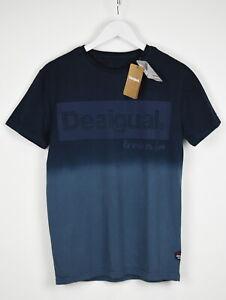 Desigual TS-LUIS Homme M Logo Imprimé Color-Block Décontracté T-Shirt 10536 MM