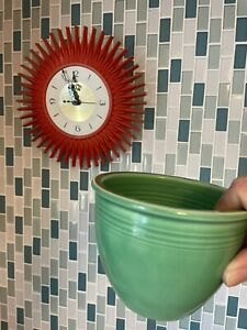 VINTAGE GREEN💚FIESTA #1  MIXING BOWL  -FIESTAWARE - Smallest-Great Condition