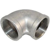 """1-1/2"""" Elbow 90 Degree Stainless Steel 304 Female Threaded Pipe Fitting NPT NEW"""
