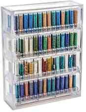Bead Pavilion Showcase w/4 Round Shelves 224 Containers & Caps 00007970-4RDC